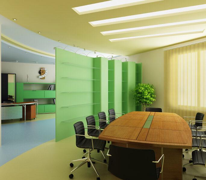 diseño para oficinas cortinas